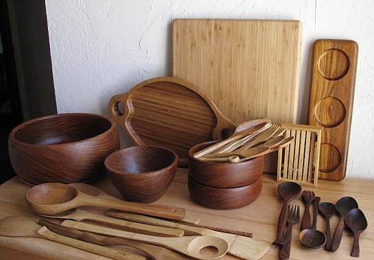 Посуда из дерева для кухни своими руками 50